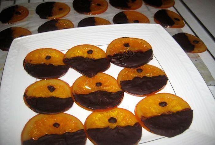 готовим апельсины с шоколадом