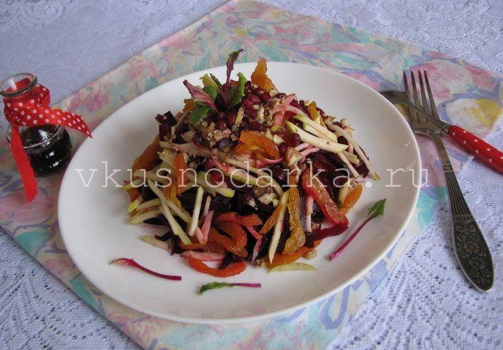 Вкусный салат со свеклой