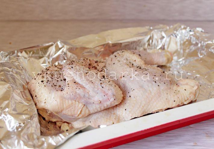 рецепт из домашней курицы в духовке