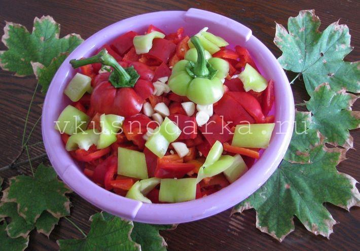 Лечо из помидор перца баклажан на зиму
