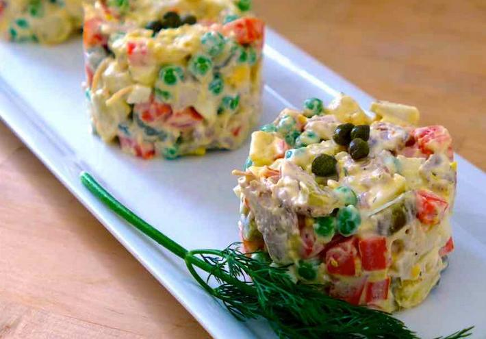 рецепты рыбных салатов на 2017 год