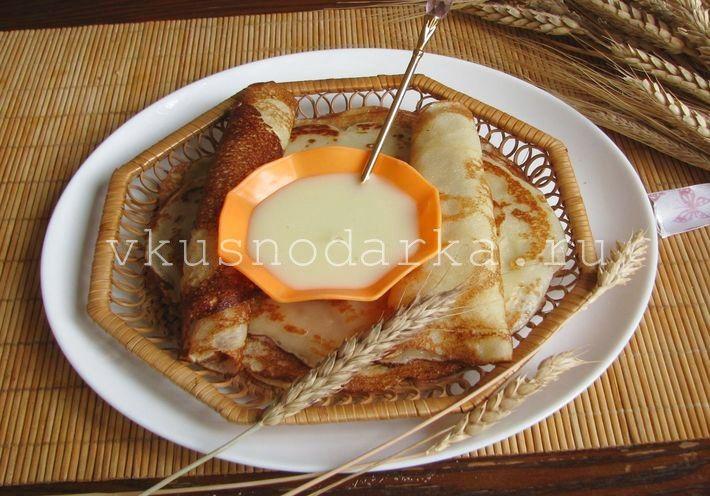 Блины на кипятке рецепт с фото