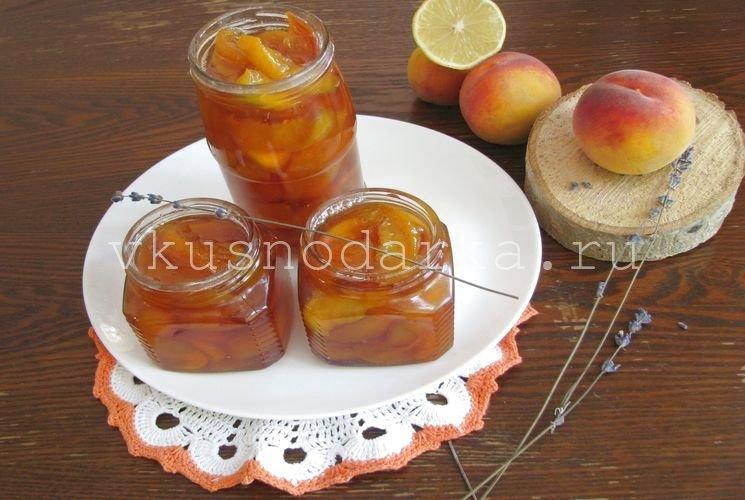 Варенье из персиков без косточек рецепт на зиму пошагово