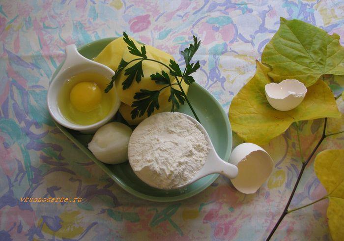 Продукты для дерунов картофельных