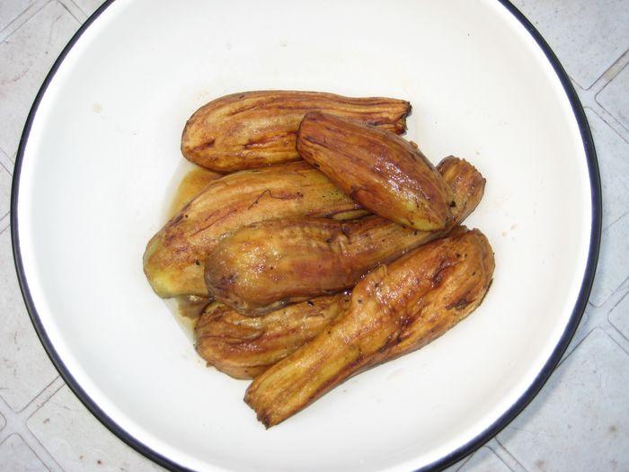 Очищенные печеные баклажаны