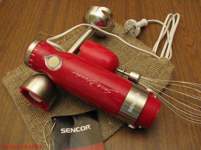 Обзор купленного погружного миксера Sencor SHB 4364 RD