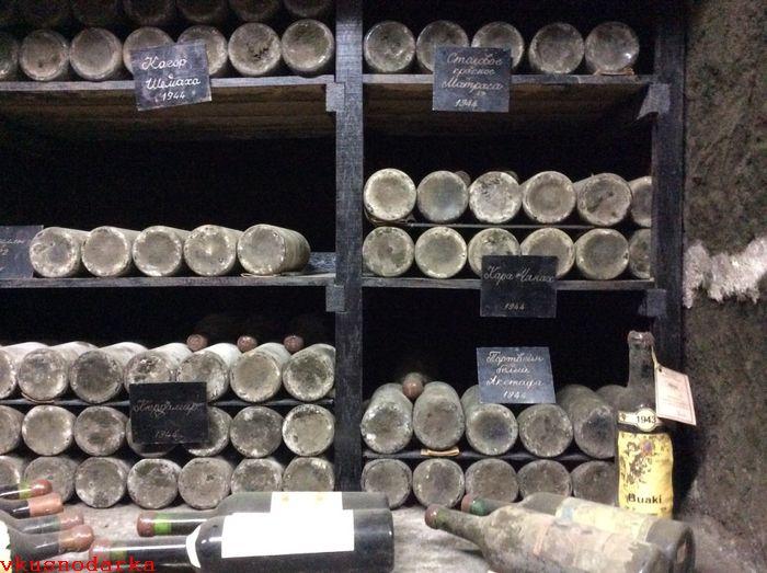 Хранение коллекционных Массандровских вин