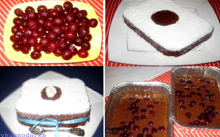 Рецепт шоколадного кекса с вишней