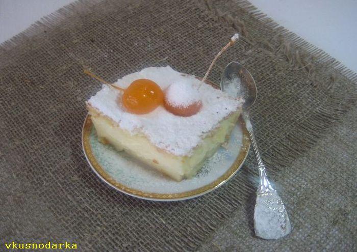 Рецепт слоеного умного пирога готов