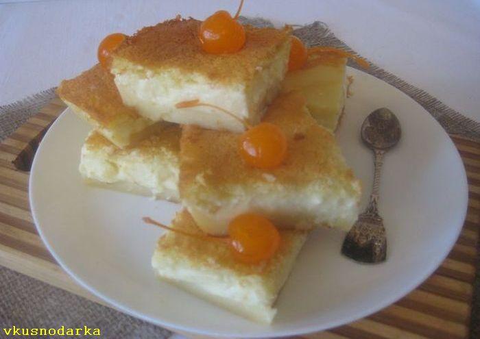 Разрезаем пирог на дольки