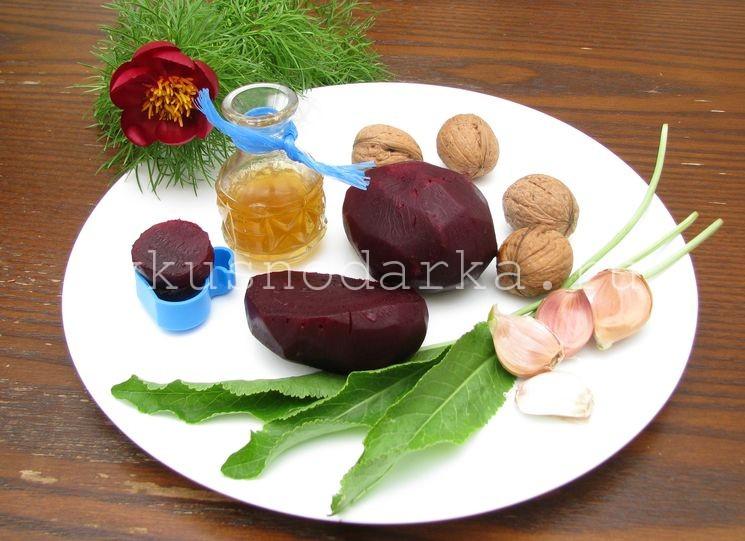 Ингредиенты для салата из печенки