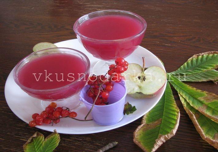 Рецепт приготовления киселя из калины и яблок