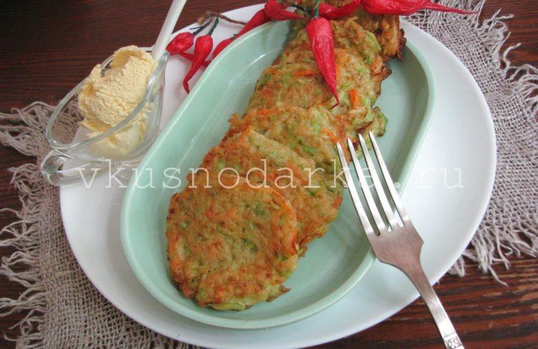 Кабачковые оладьи - рецепт с фото