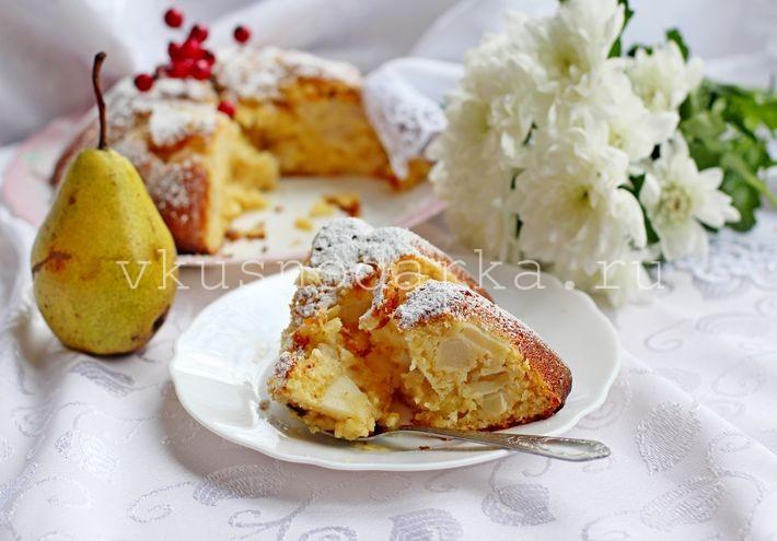 Кекс с грушами