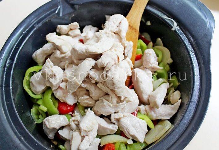 Паста с курицей рецепт с фото