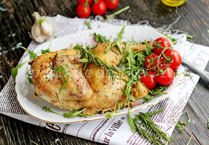 Рецепт курицы в духовке с чесноком