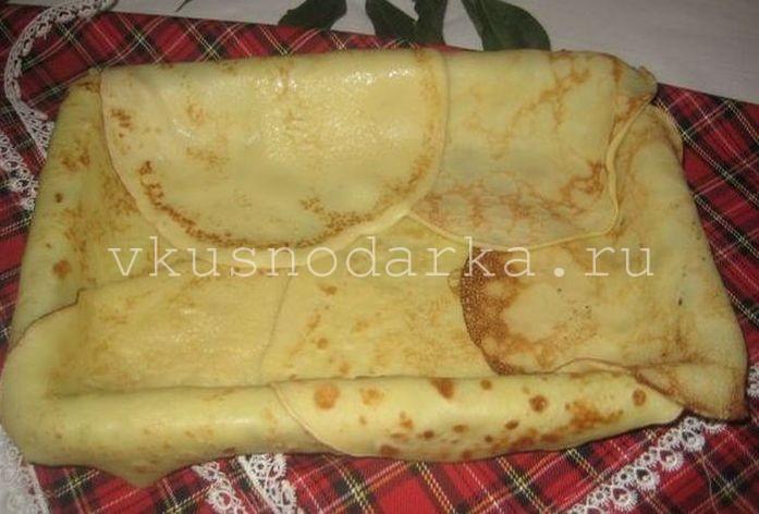 Блинный пирог рецепт с фото