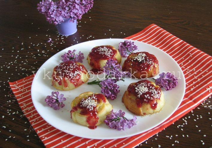 Рецептура манника на кефире с добавлением малины