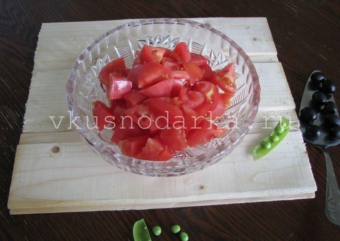 Вкусный салат из помидоров
