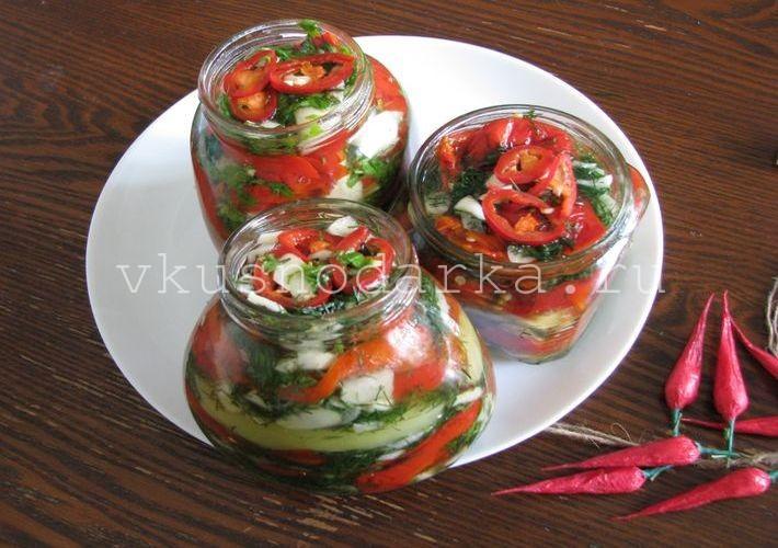 Рецепт перцев в масле на зиму фото