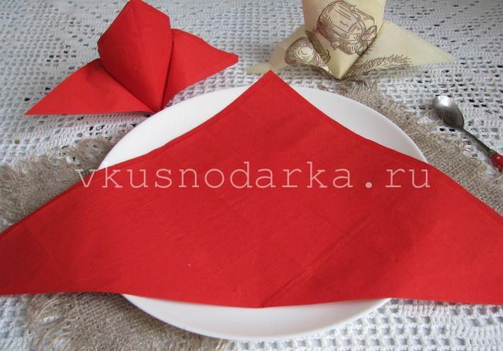 Как красиво свернуть бумажные салфетки