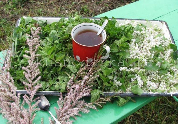 ароматный чай с мятой и мелиссой