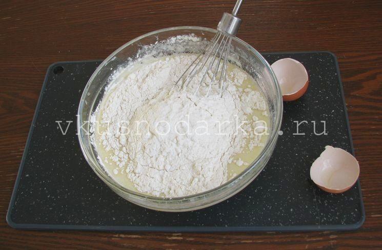 Блины с творогом и курагой - рецепт пошаговый с фото