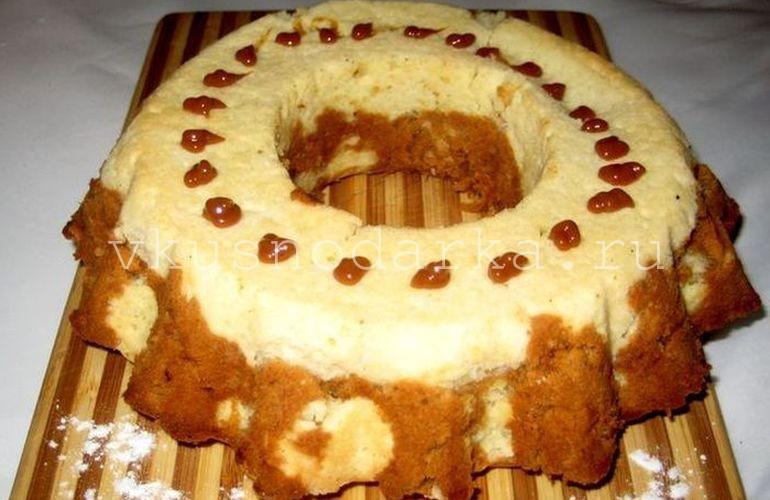 Мраморный кекс с шоколадно-ореховой пастой