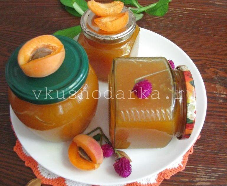 Простой джем из абрикосов - рецепт с пошаговыми фото
