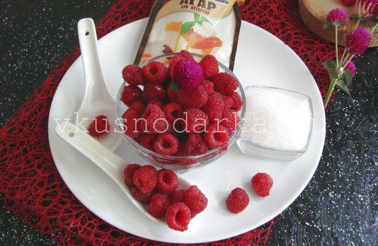 Вначале следует подготовить все ингредиенты для джема из малины