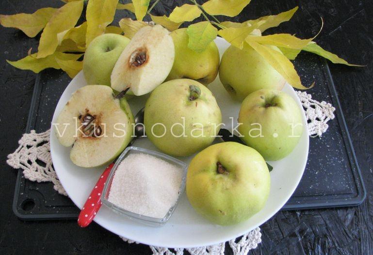 Подготовить все ингредиенты для великолепного лакомства - варенья из айвы и яблок