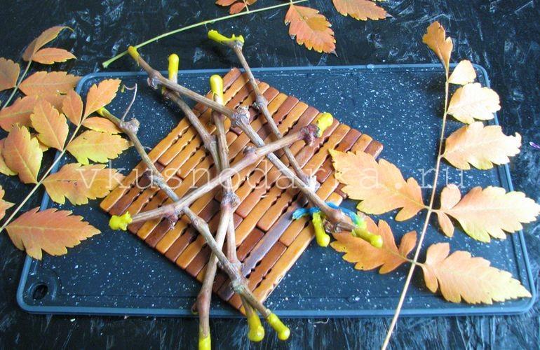 Заготовленные ветки винограда опустить в горячий парафин